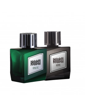 Somah Black and Green Eau de Perfume Set for Men