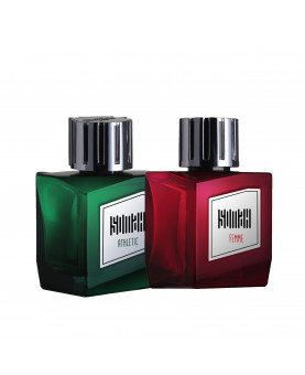Somah Women Red and Men Green Eau de Perfume Set