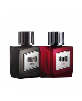 Somah Women Red and Men Black Eau de Perfume Set
